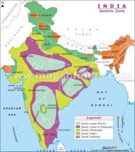 Historical indian earthquakes mapsofindia blog seismic zone map of india gumiabroncs Gallery